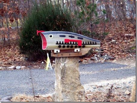Fishing mailbox