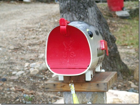Fishing mailbox front