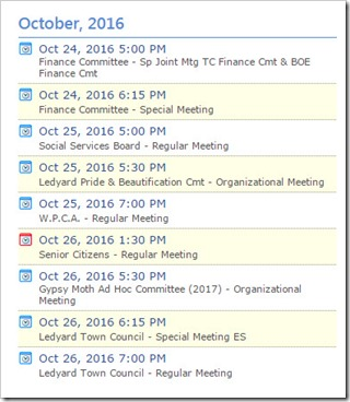 Town of Ledyard Meetings