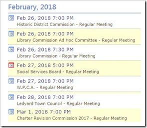 Ledyard Meetings 2