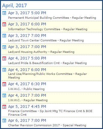 Ledyard Meetings