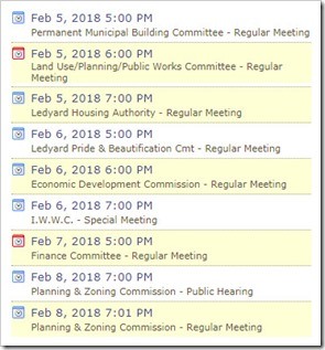Ledyard Meetings